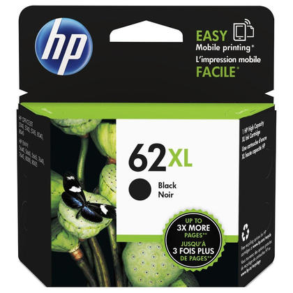 HP 62XL C2P05AN Original Black Ink Cartridge High Yield