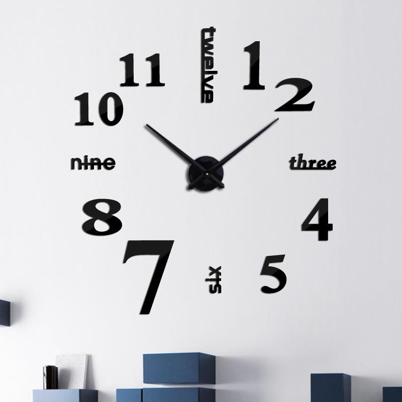 Creative DIY Acrylic Mirror Large Wall Clock Quartz Watch Still Life Modern Clocks Needle Living Room Home Decor Sticker
