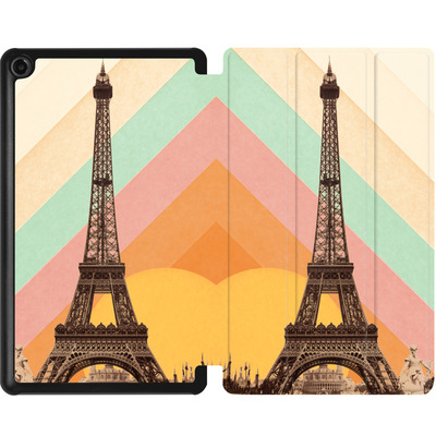 Amazon Fire 7 (2017) Tablet Smart Case - Eiffel Tower Rainbow von Florent Bodart