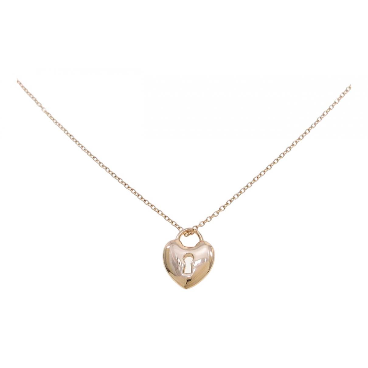 Tiffany & Co \N Kette in  Silber Rosegold