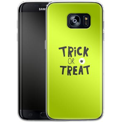 Samsung Galaxy S7 Edge Silikon Handyhuelle - Trick or Treat von caseable Designs
