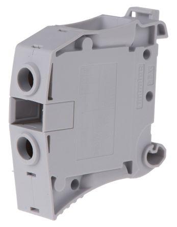 Entrelec ATEX, ZS35, 1 kV ac Feed Through Terminal Block, Screw Termination, Grey (5)