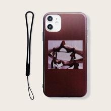 iPhone Schutzhuelle mit Grafik & Tragegurt