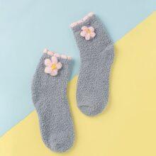 Socken mit Blumen Dekor