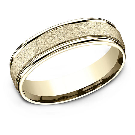 6MM 10K Gold Wedding Band, 11 , No Color Family