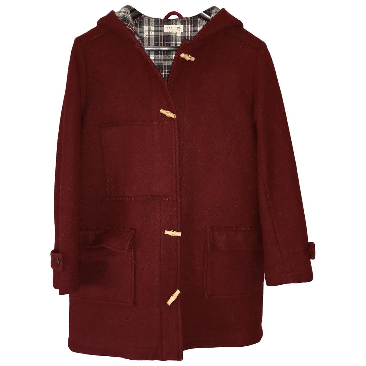 Soeur \N Burgundy Wool coat for Women S International