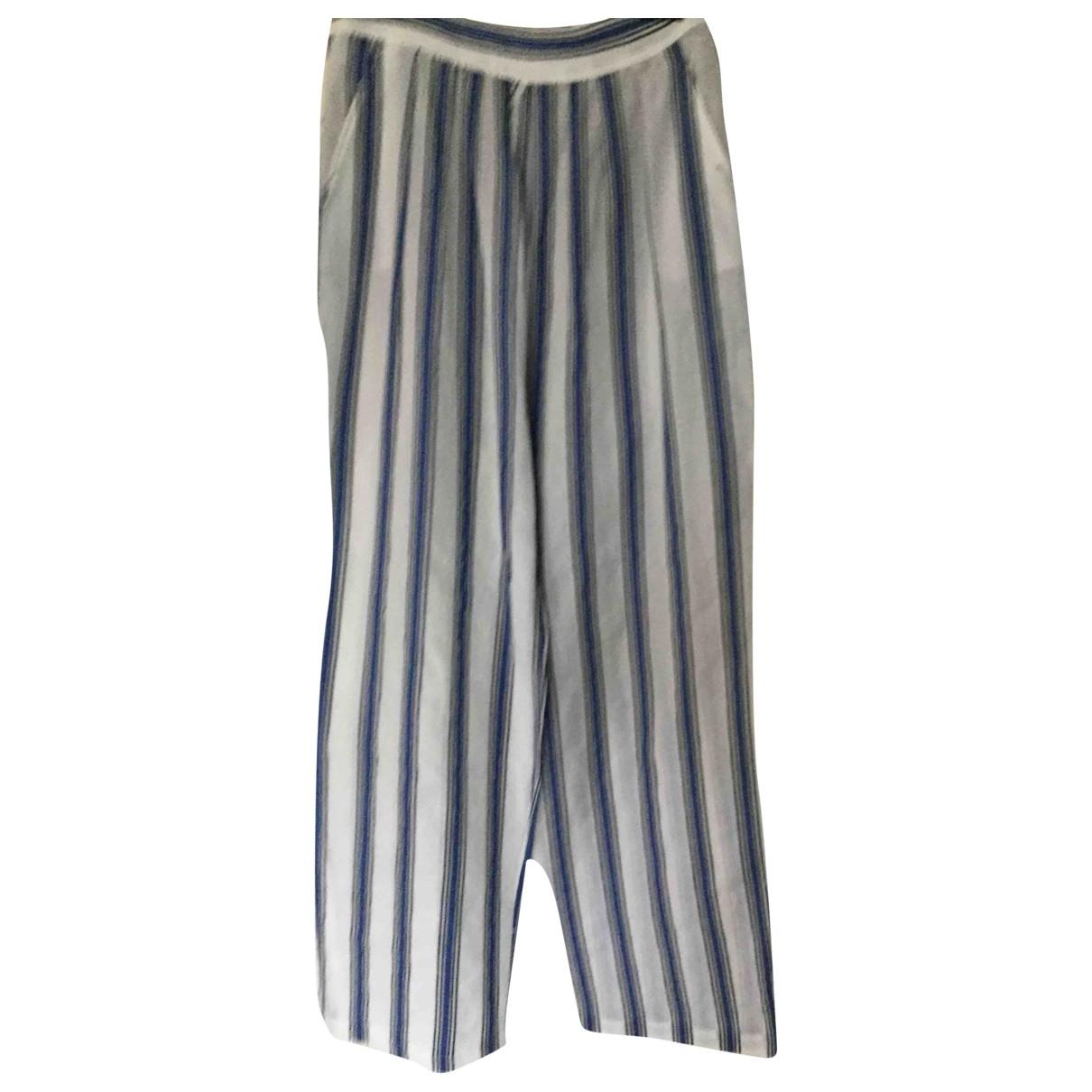 Paul & Joe \N White Cotton Trousers for Women 42 FR