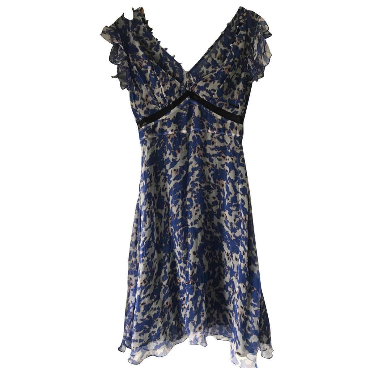 Guess \N Kleid in  Blau Seide