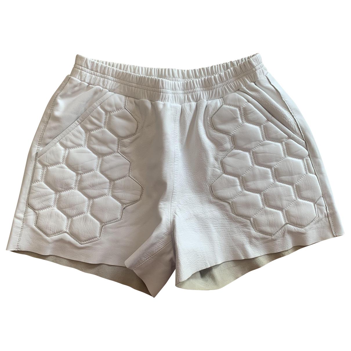 Each X \N White Leather Shorts for Women S International