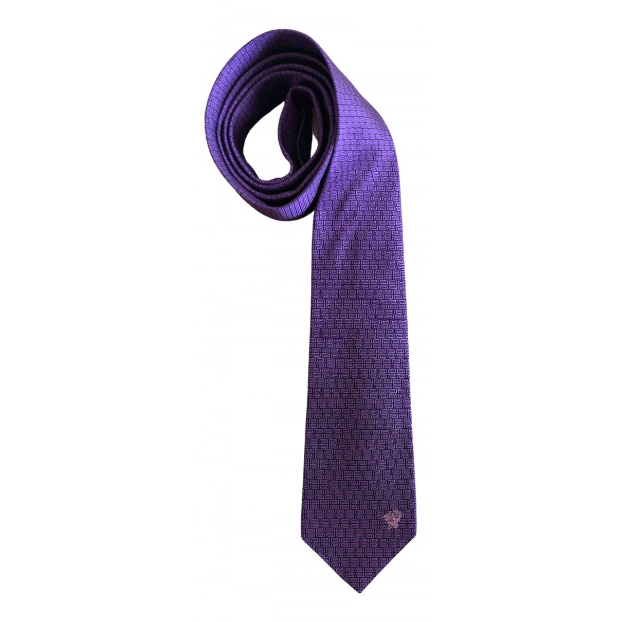 Versace \N Krawatten in  Lila Seide