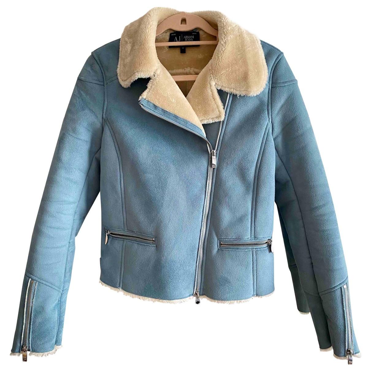 Armani Jean - Veste   pour femme en suede - bleu