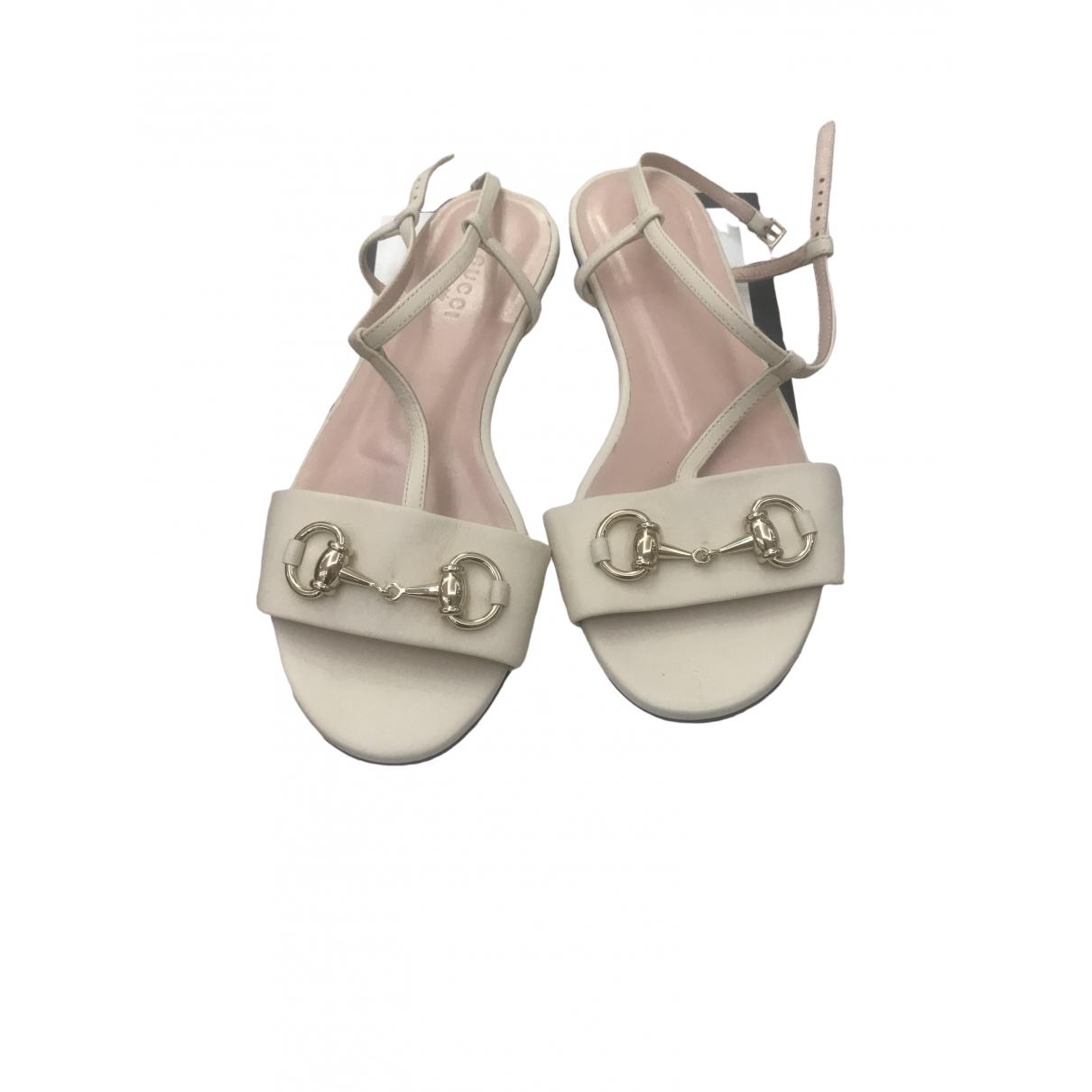 Gucci \N Beige Leather Sandals for Women 35 EU