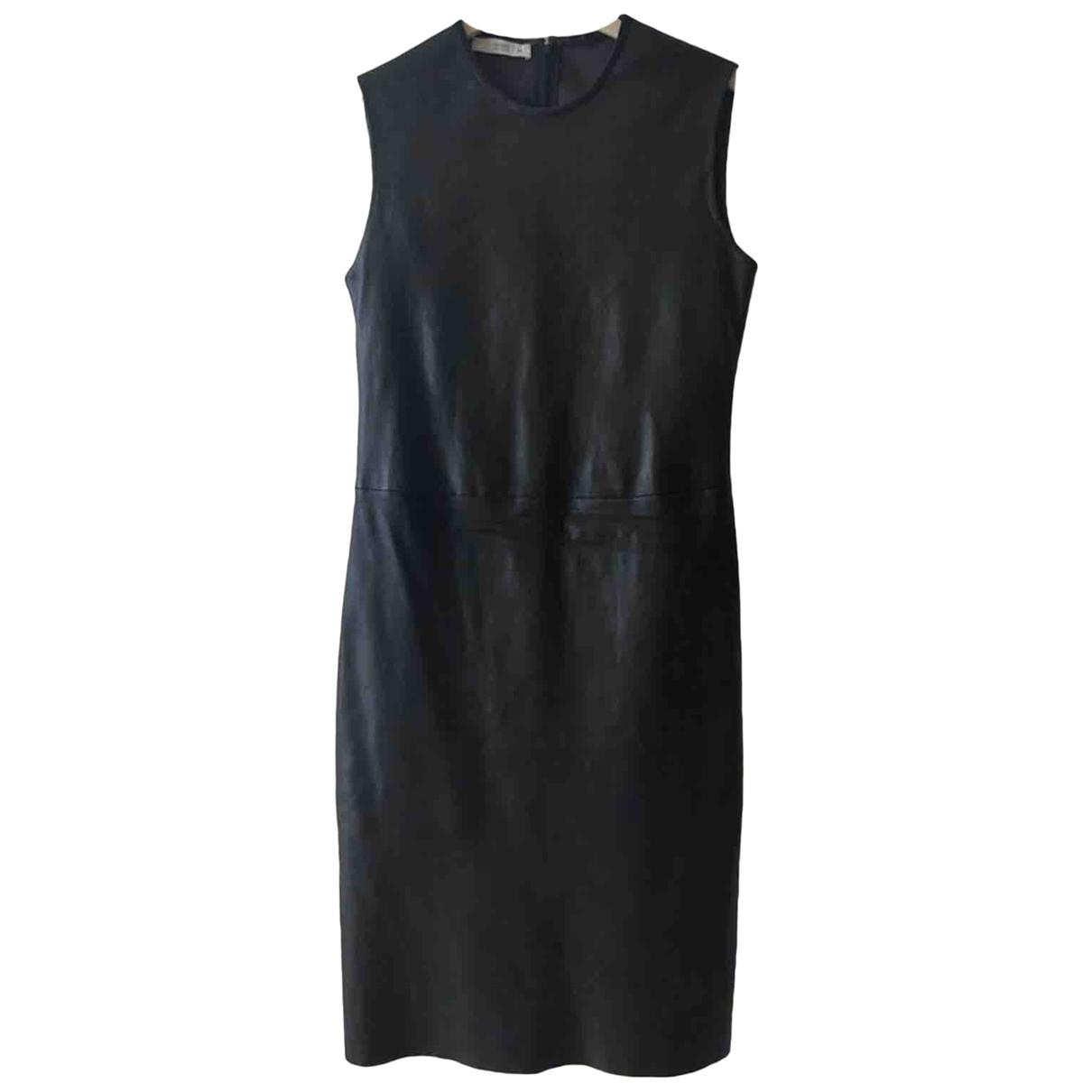 Prada \N Kleid in  Schwarz Leder