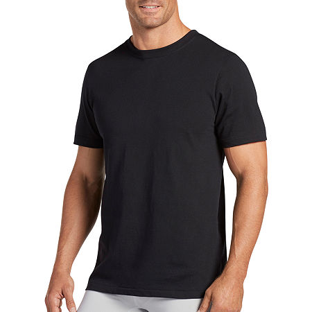 Jockey 3 Pack Classic Crew Neck T-Shirt - Men's, Large , Black