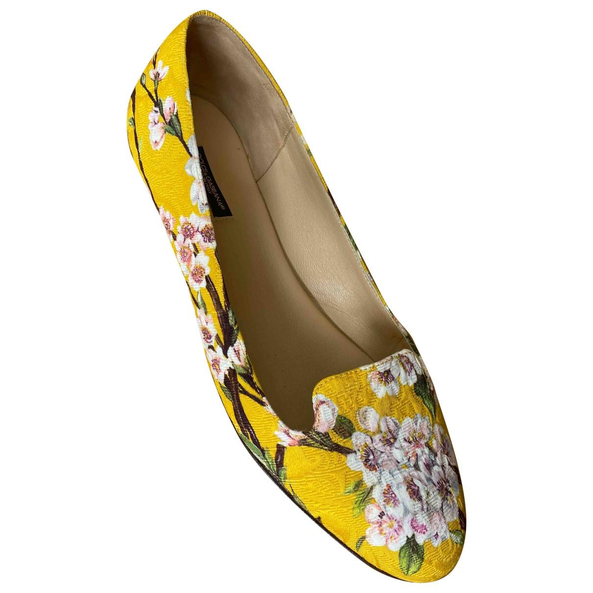 Dolce & Gabbana \N Yellow Tweed Ballet flats for Women 39 EU