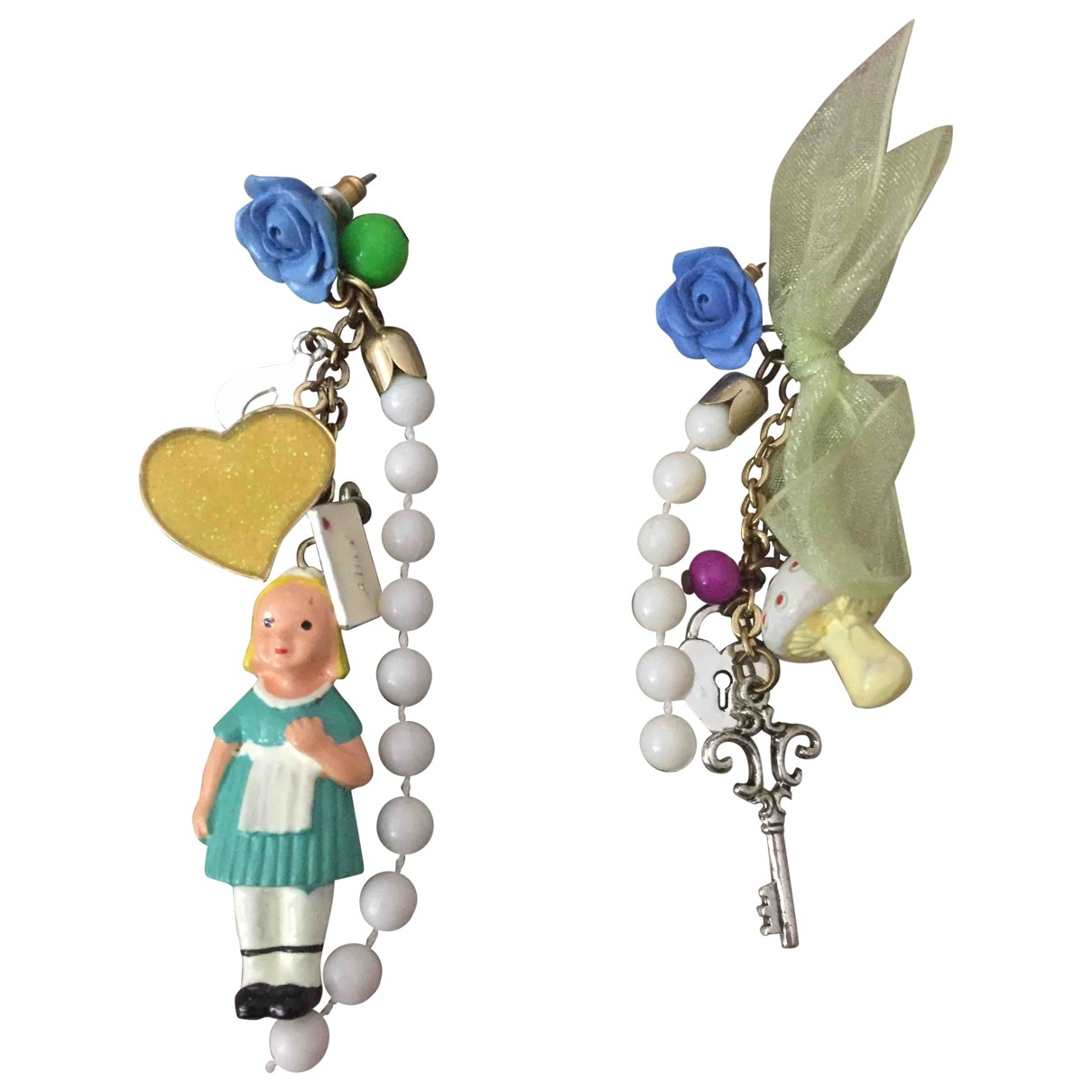 Les Néréides \N Multicolour Metal Earrings for Women \N