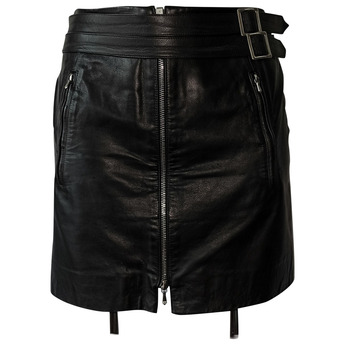 Dior - Jupe   pour femme en cuir - noir