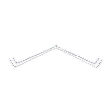 Rod Desyne Lockseam Corner Window Double Curtain Rod, One Size , White