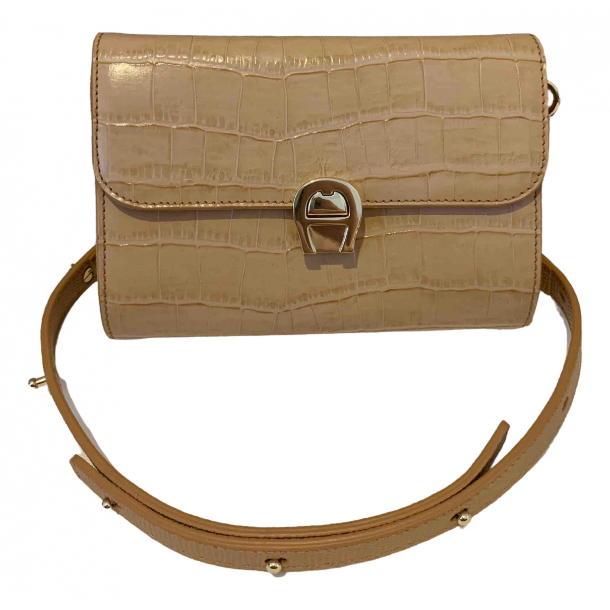 Aigner \N Beige Leather handbag for Women \N
