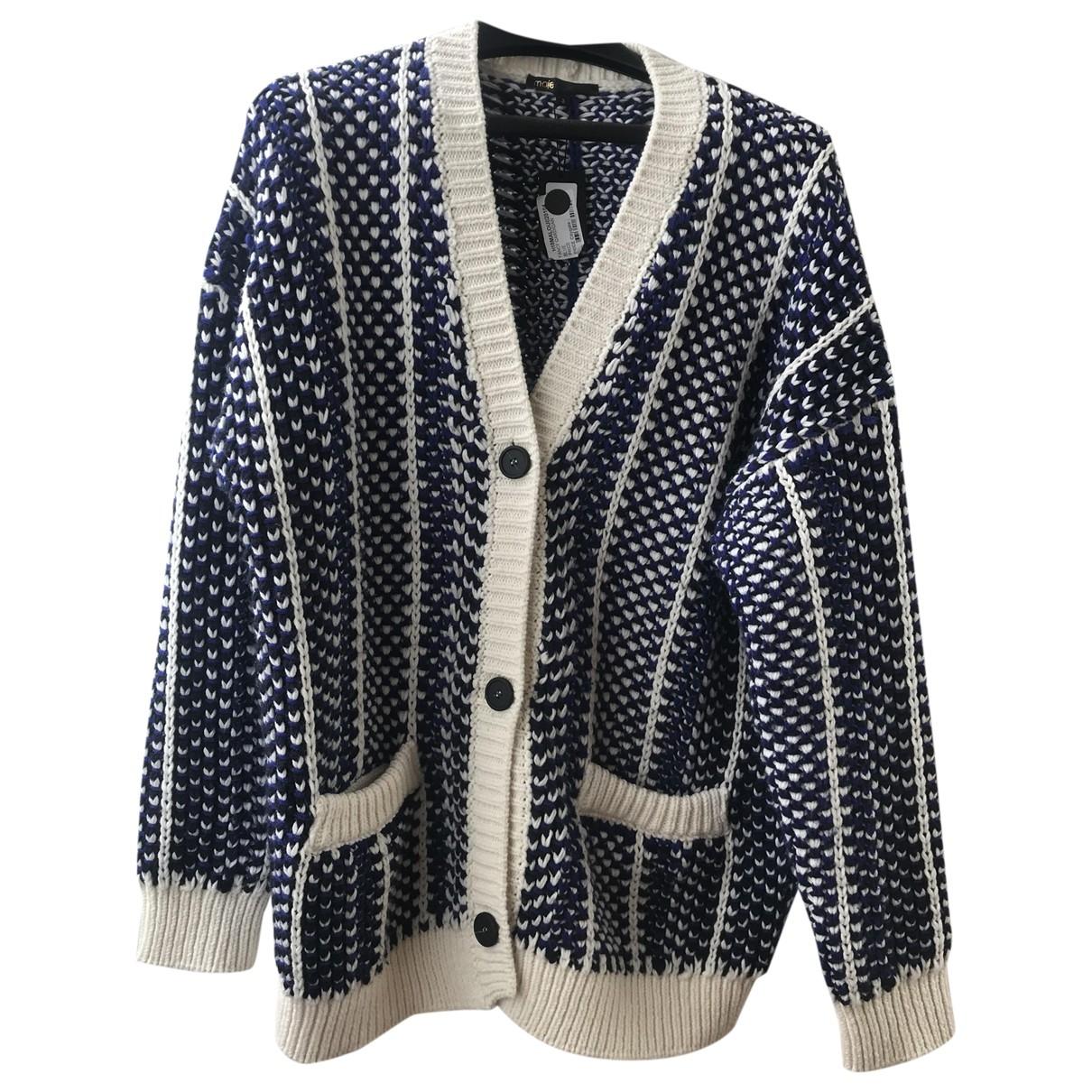 Maje - Pull Fall Winter 2019 pour femme en laine - bleu