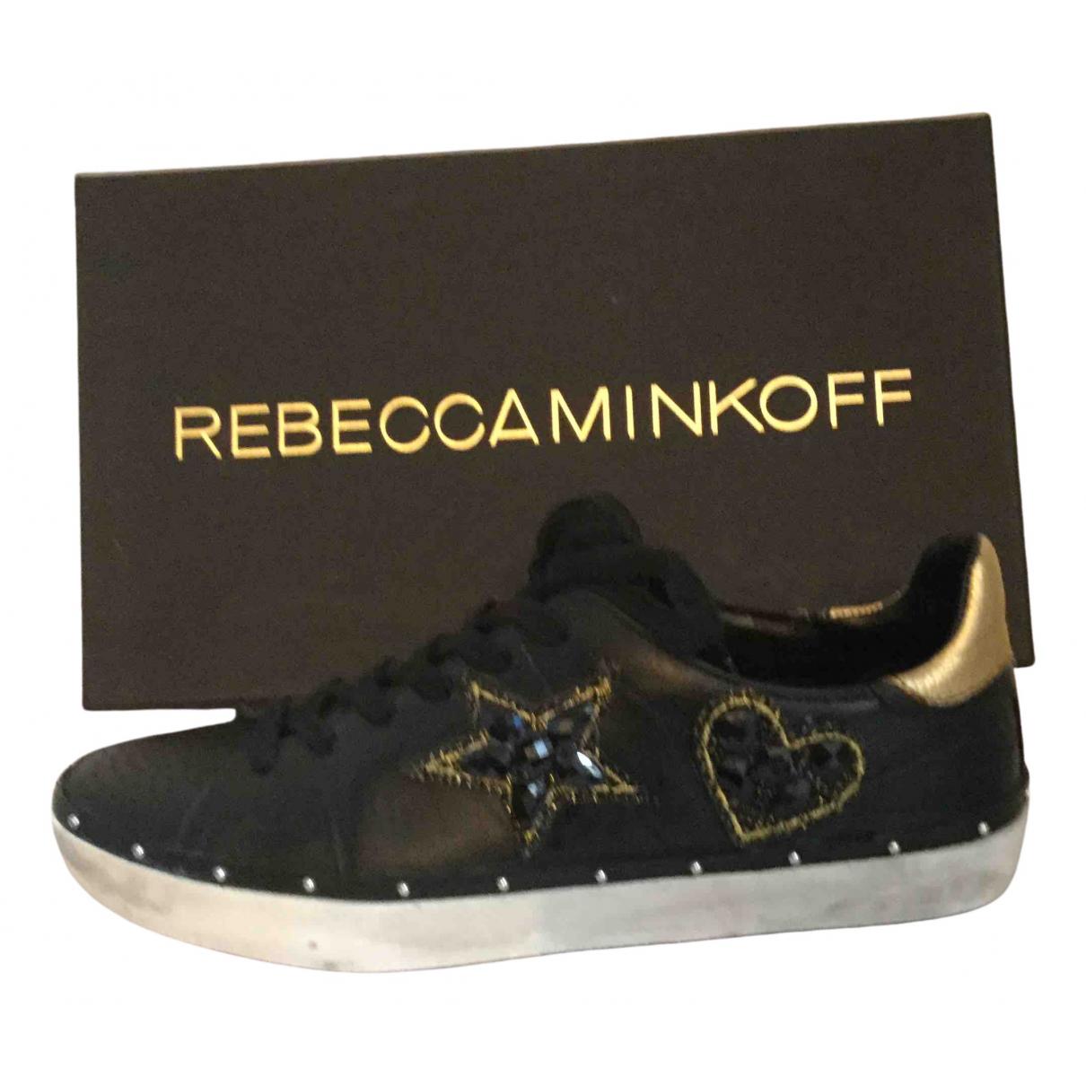 Rebecca Minkoff \N Sneakers in  Schwarz Leder