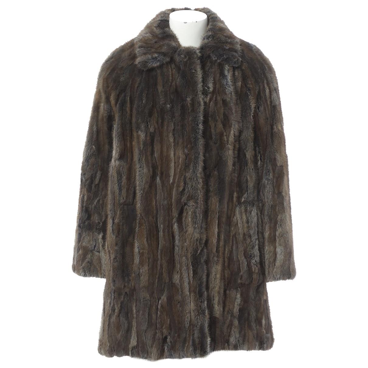 Louis Vuitton - Manteau   pour femme en vison - marron