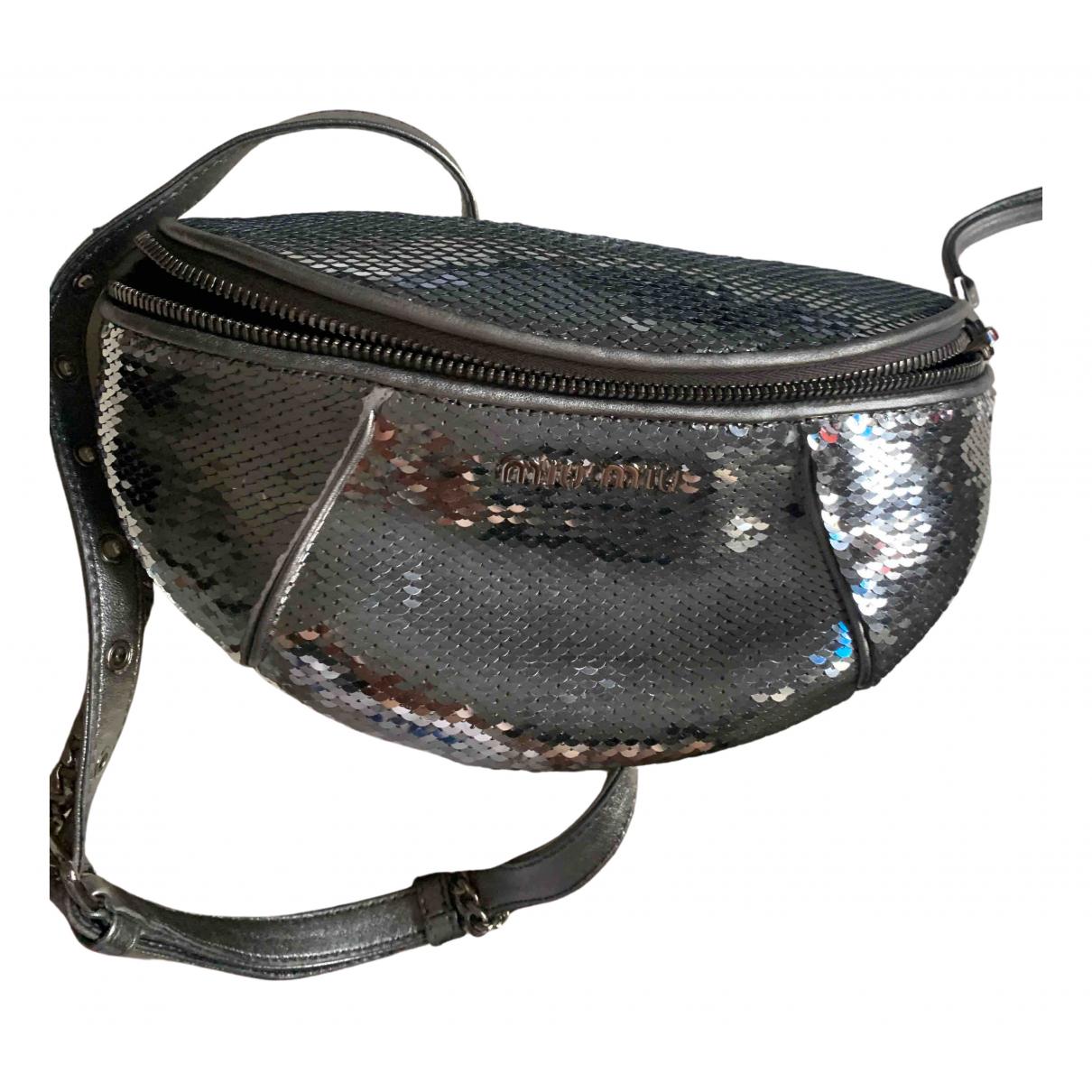 Miu Miu \N Handtasche in  Silber Leder