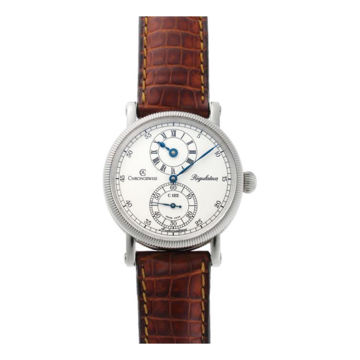 Chronoswiss \N Silver Steel watch for Women \N