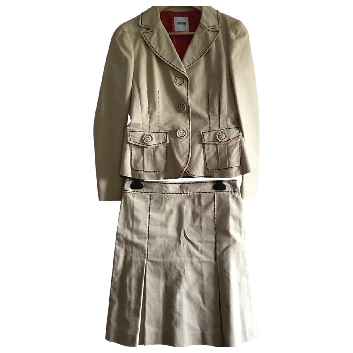 Moschino Cheap And Chic N Beige Cotton jacket for Women 40 IT