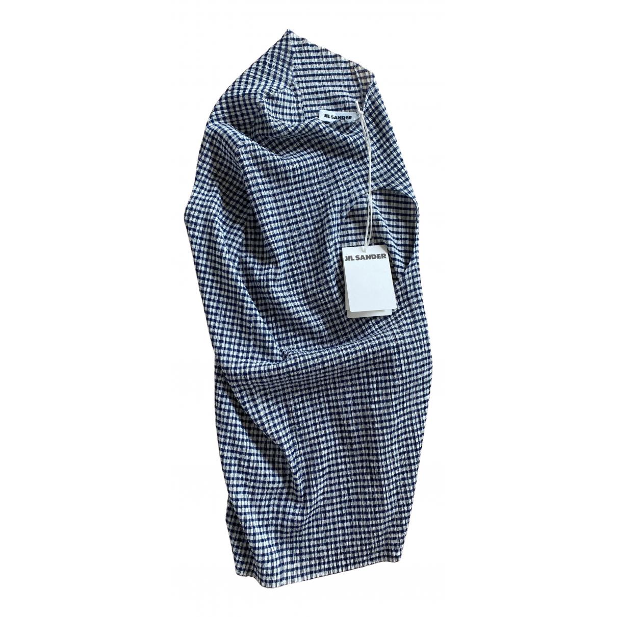 Jil Sander - Top   pour femme en coton - bleu