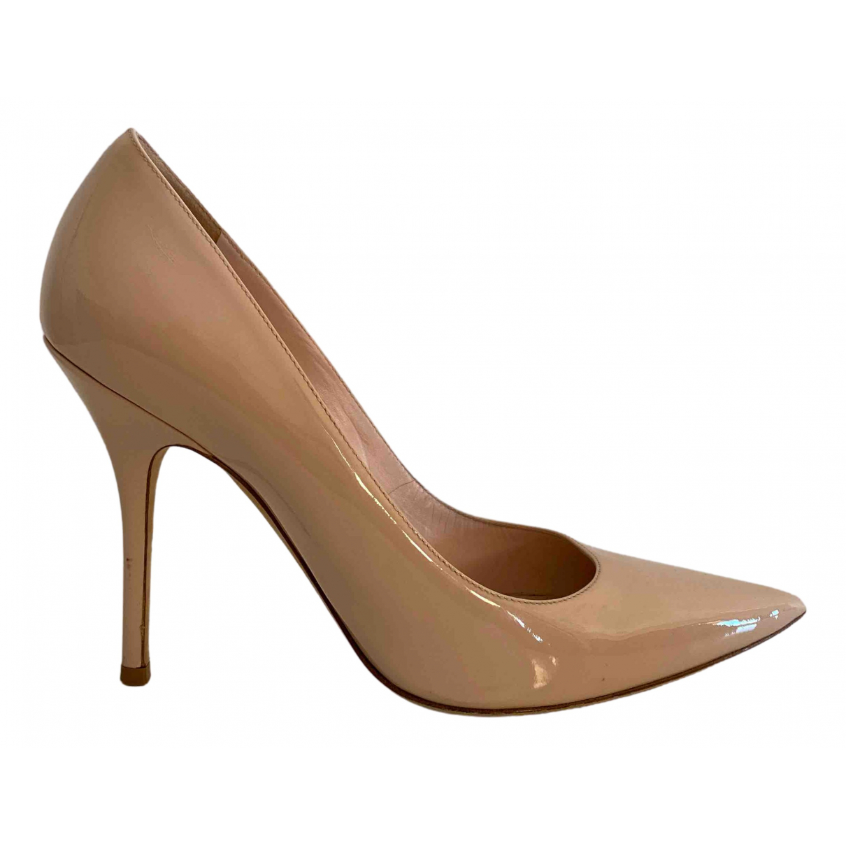 Dior \N Beige Patent leather Heels for Women 38.5 IT