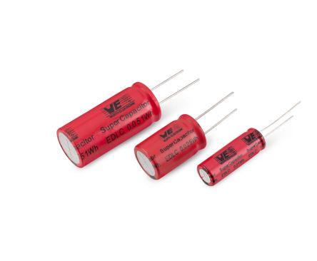 Wurth Elektronik 50F Supercapacitor EDLC -10 → +30% Tolerance, WCAP-STSC 2.7V dc, Through Hole (65)