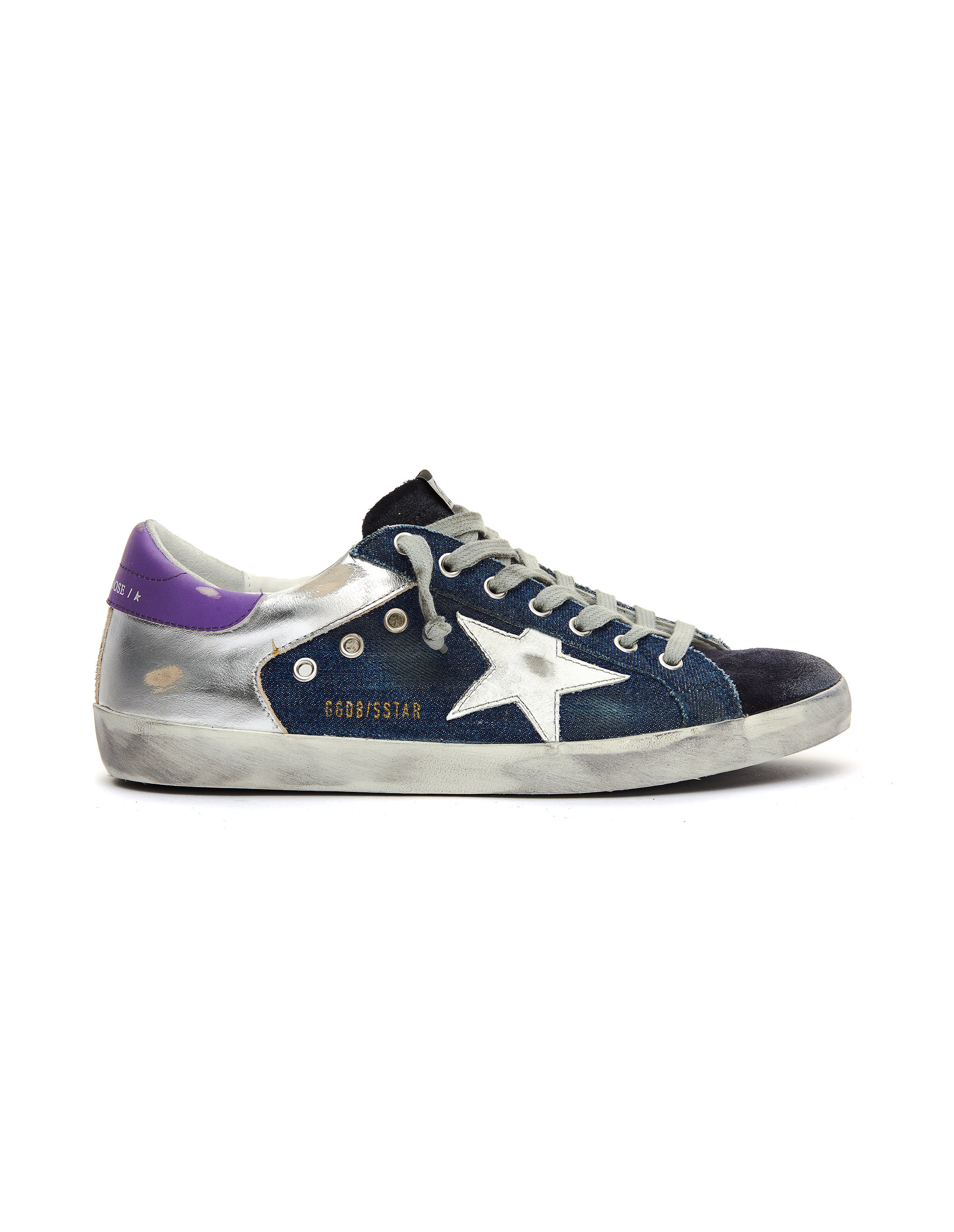 Golden Goose Denim Superstar Sneakers