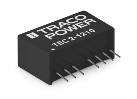 TRACOPOWER TEC 2 2W Isolated DC-DC Converter Through Hole, Voltage in 9 → 18 V dc, Voltage out ±12V dc