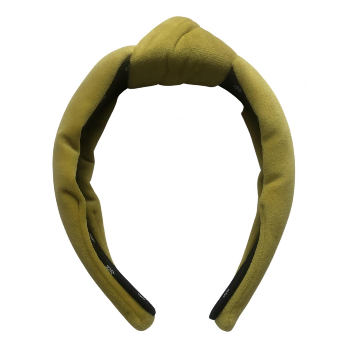Lele Sadoughi \N Yellow Cloth Hair accessories for Women \N
