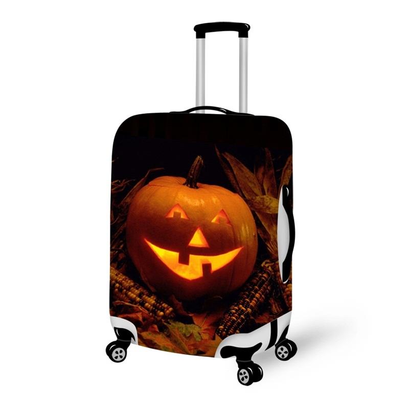 Pumpkin Light Smile Waterproof Suitcase Protector for 19 20 21