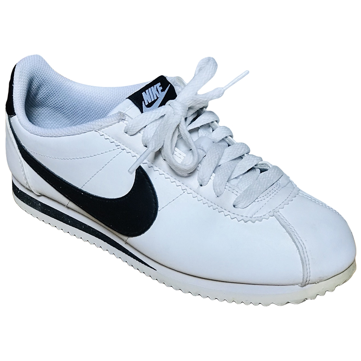 Nike Cortez Sneakers in  Weiss Leder