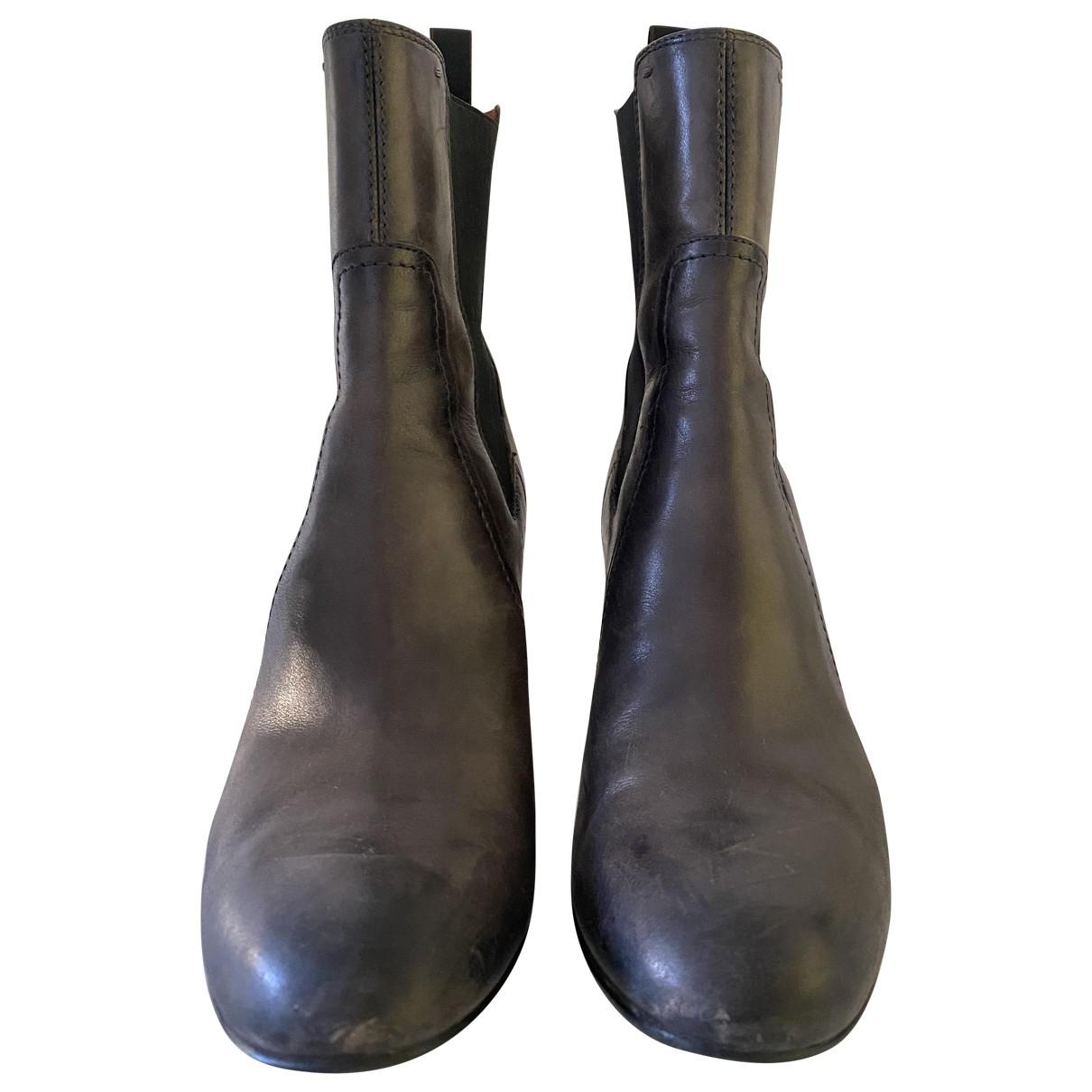 Santoni \N Grey Leather Boots for Women 38.5 EU