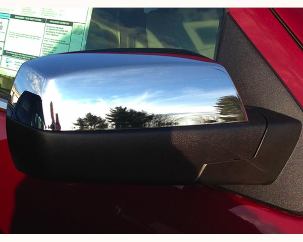 Quality Automotive Accessories Chrome Plated ABS Plastic 2-Piece Mirror Cover Set Chevrolet Silverado 2500 2014