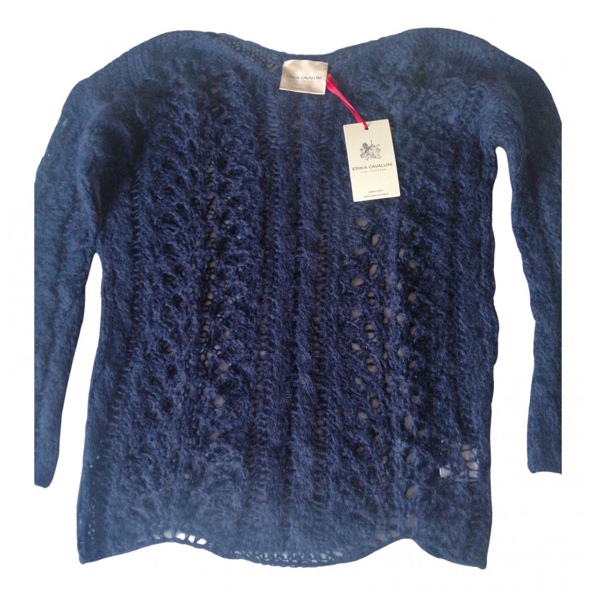 Erika Cavallini - Pull   pour femme en laine - bleu