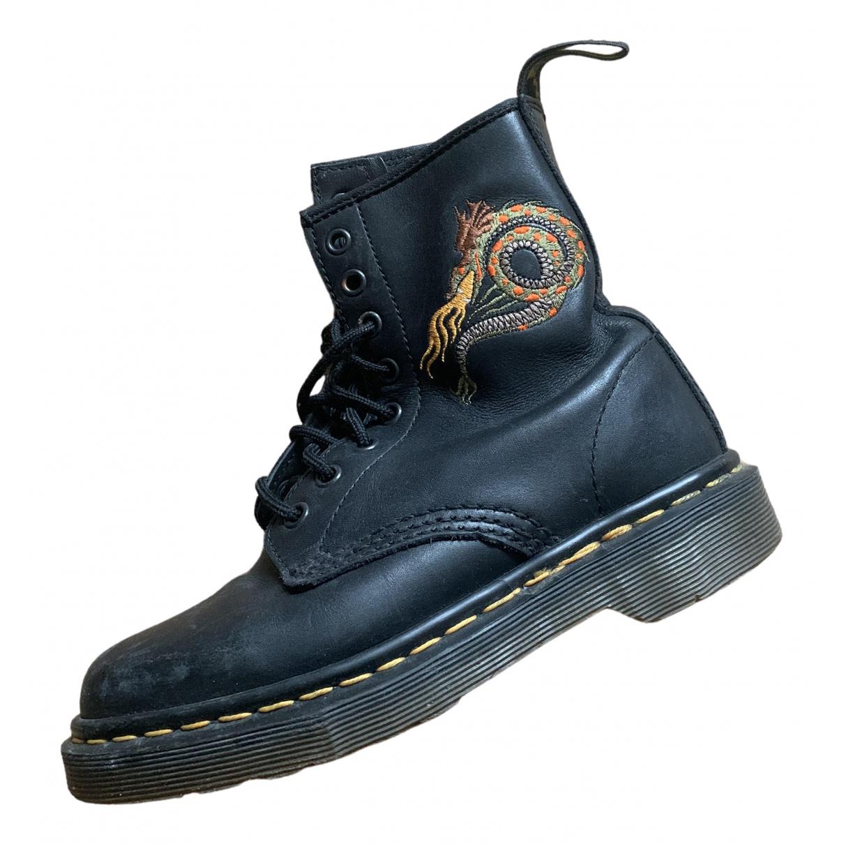 Dr. Martens \N Black Leather Boots for Kids 3 UK