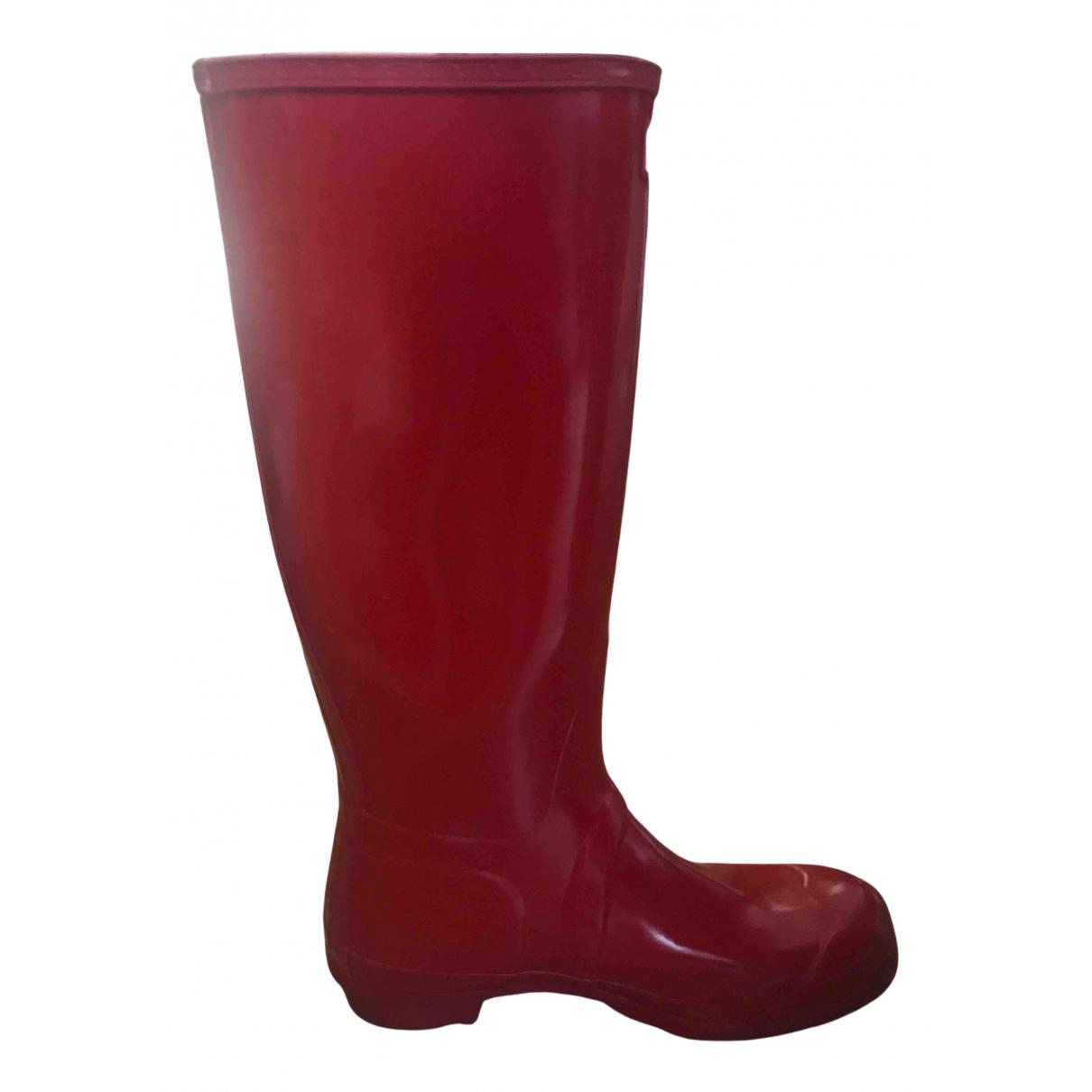 Hunter - Bottes   pour femme - rouge