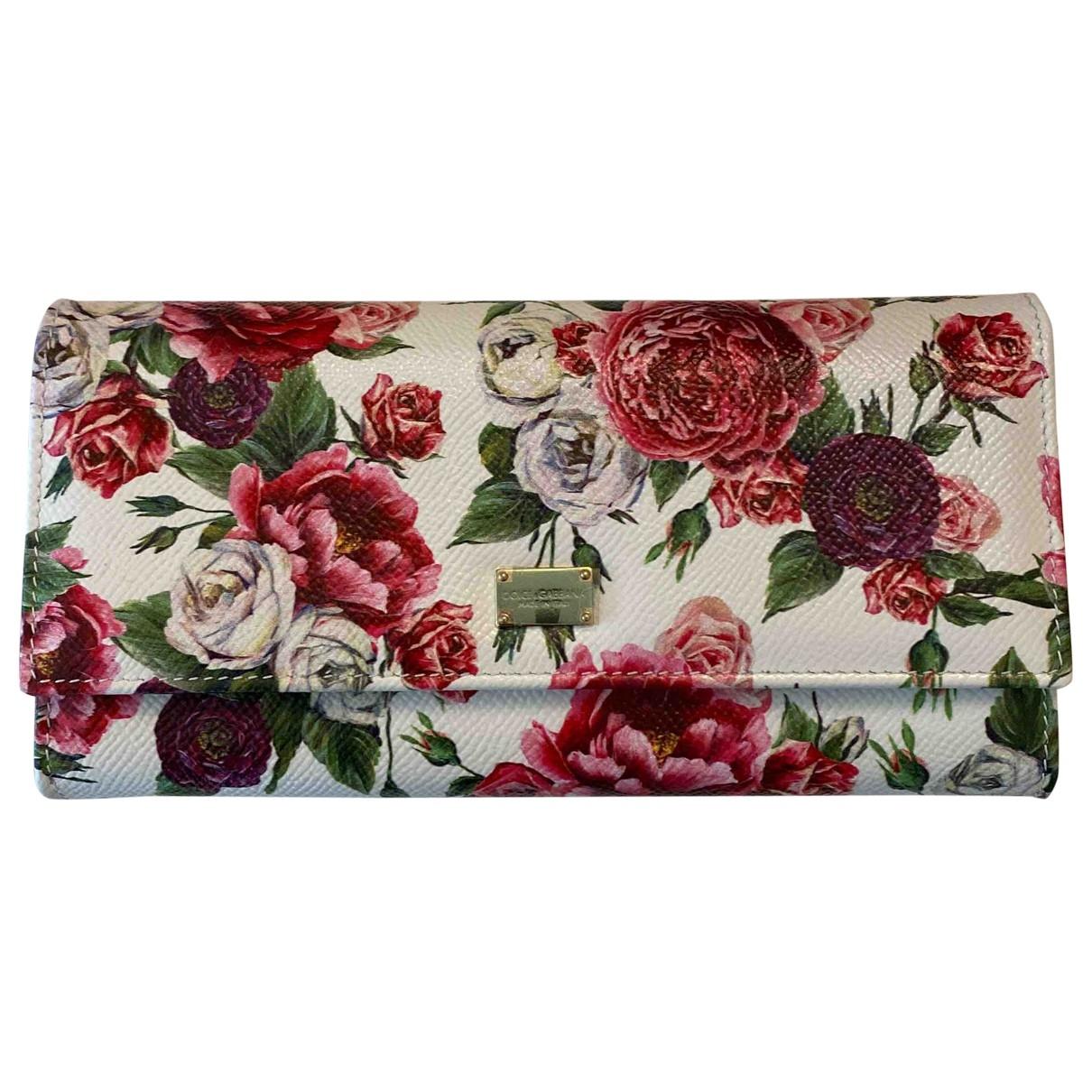 Dolce & Gabbana \N Portemonnaie in  Weiss Leder