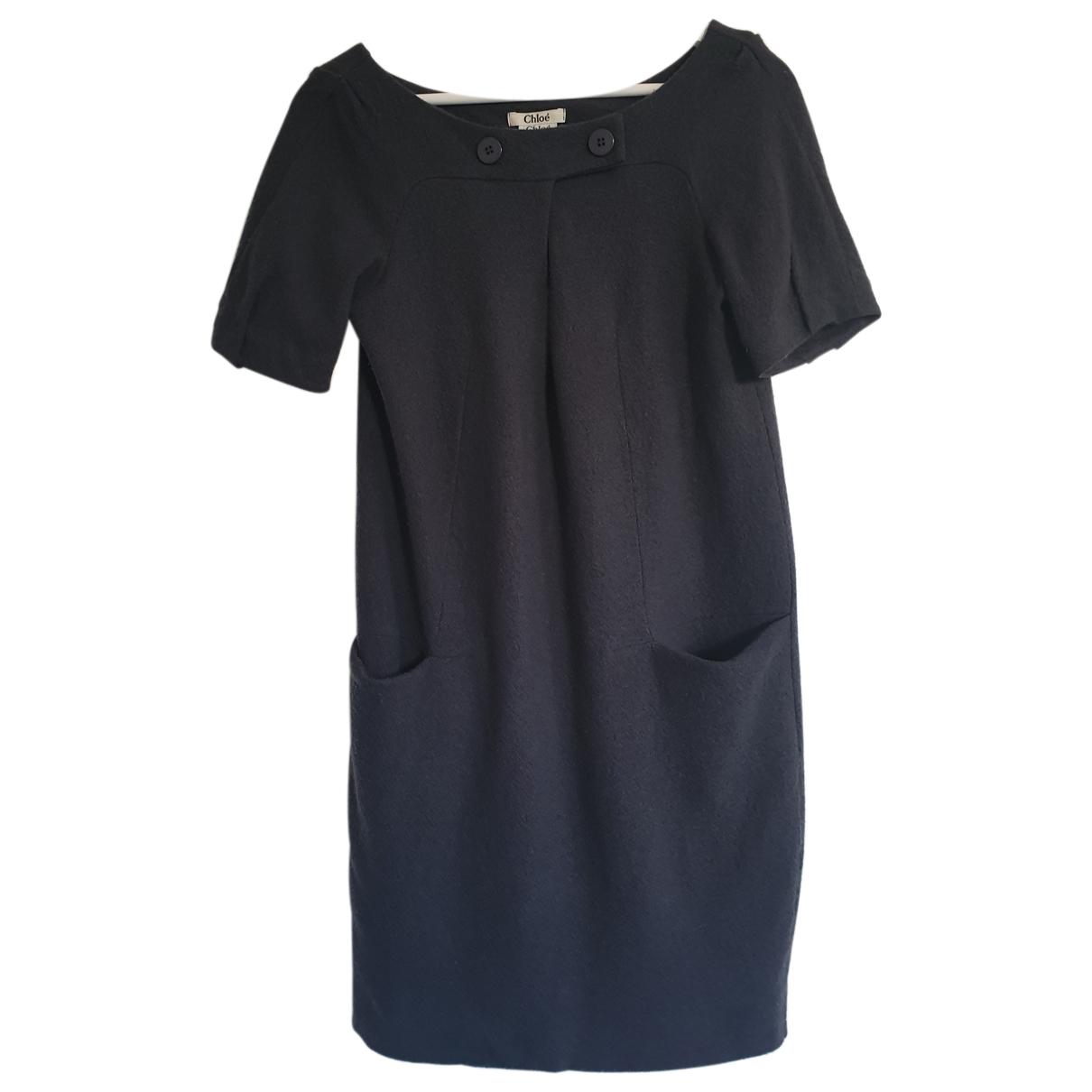 Chloe \N Kleid in  Anthrazit Wolle