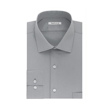Van Heusen Flex Collar Dress Long Sleeve Shirt - Big & Tall, 16.5 35-36, Gray