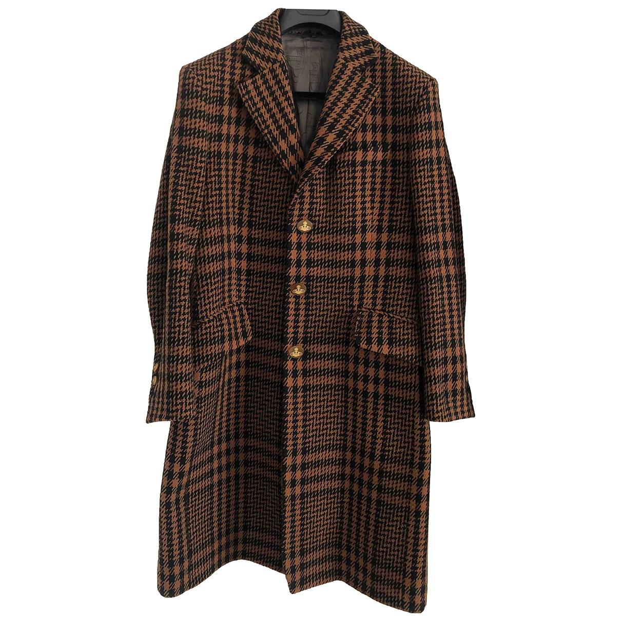 Vivienne Westwood \N Maentel in  Braun Wolle