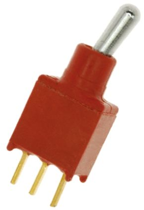 C & K SPST Toggle Switch, Latching, IP57, PCB