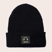 Letter Graphic Beanie