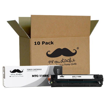 Compatible Canon 116BK 1980B001AA Black Toner Cartridge - Moustache@ - 10/Pack