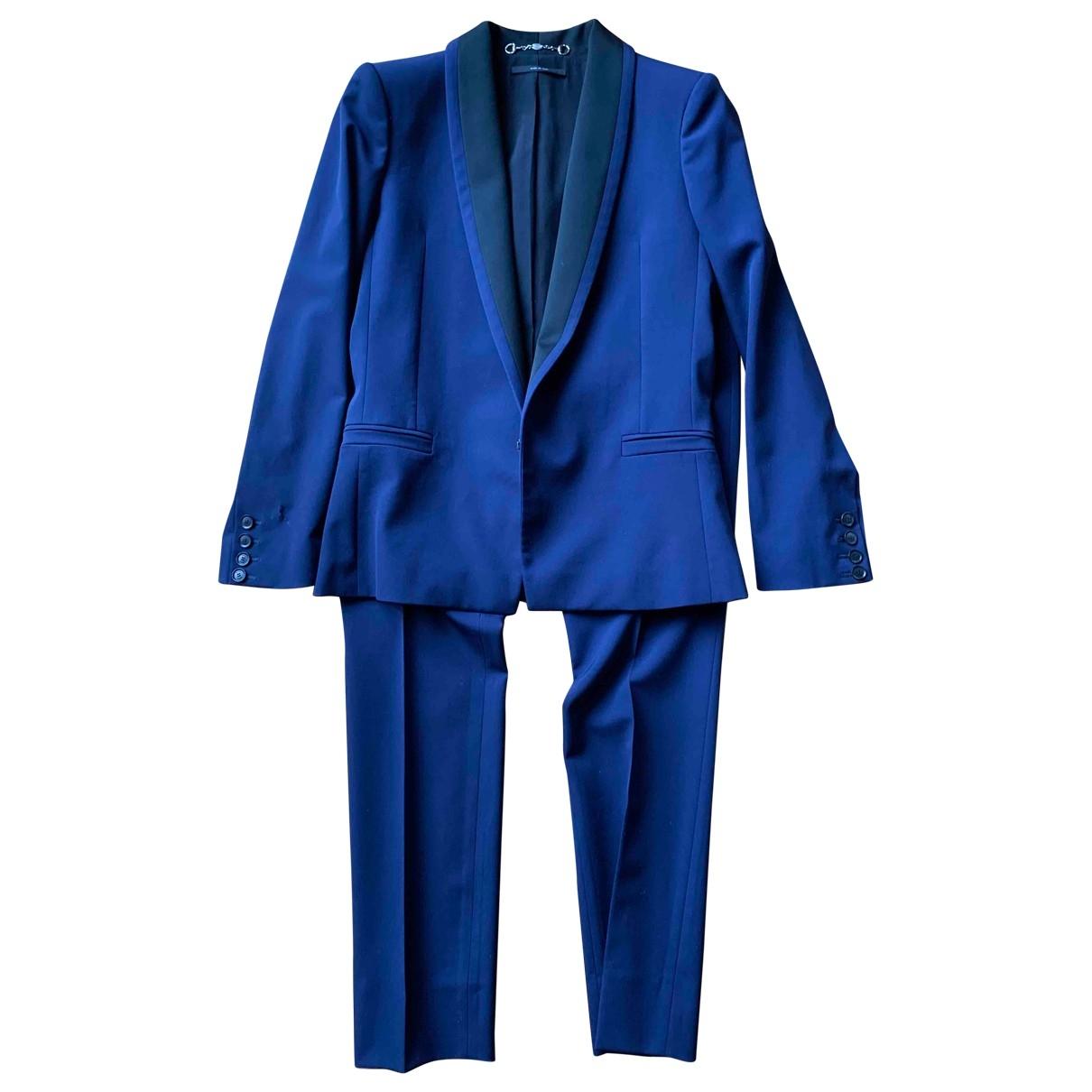 Gucci \N Jacke in  Blau Wolle